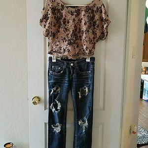 Jeans & blouse